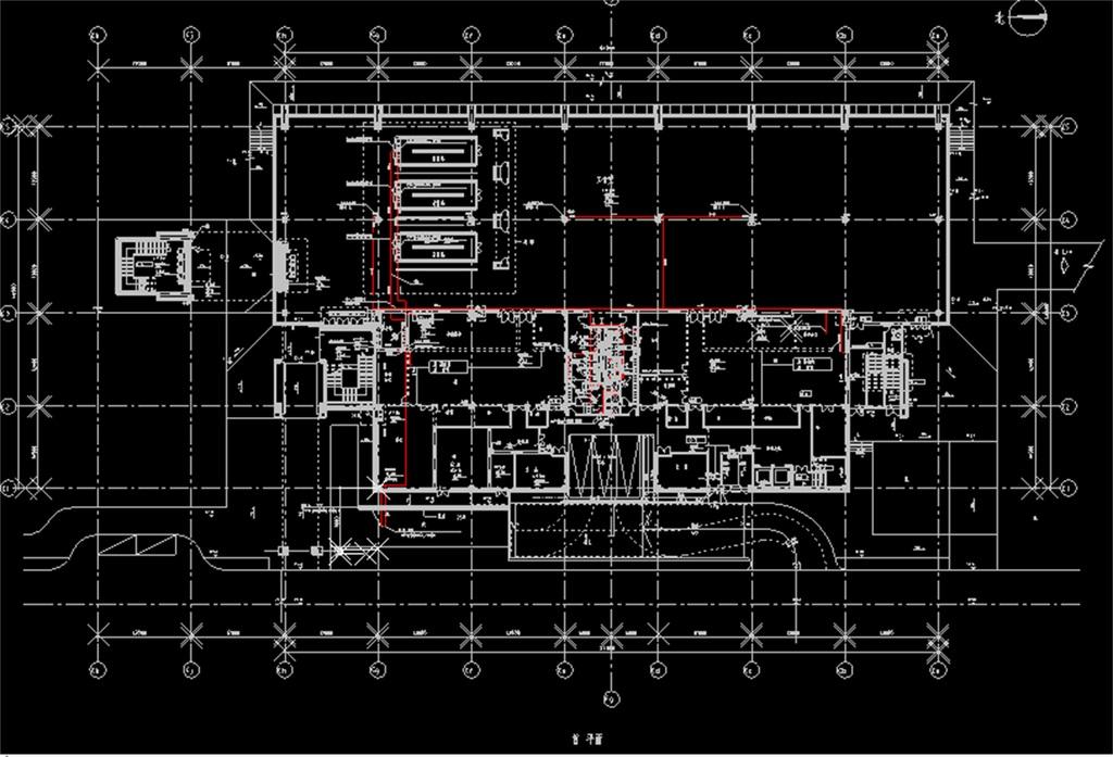 cad图库 室内设计cad图库 cad图纸 > 食堂给排水cad平面设计图  版权