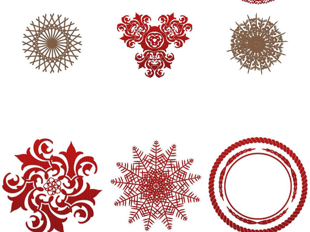 精美圆形花纹素ps免抠图透明素材1