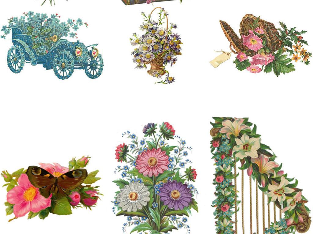 花卉素材手绘鲜花png免抠素材1