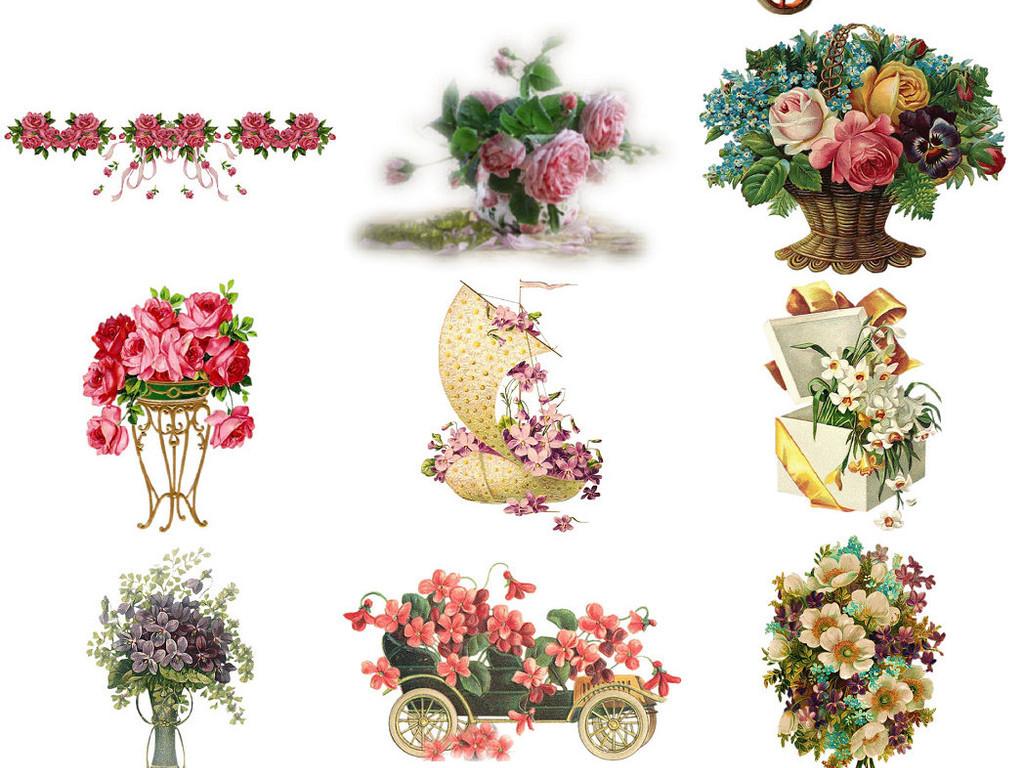 花卉素材手绘鲜花png免抠素材2