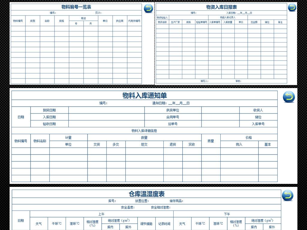 2017全套仓库管理专用表格模板