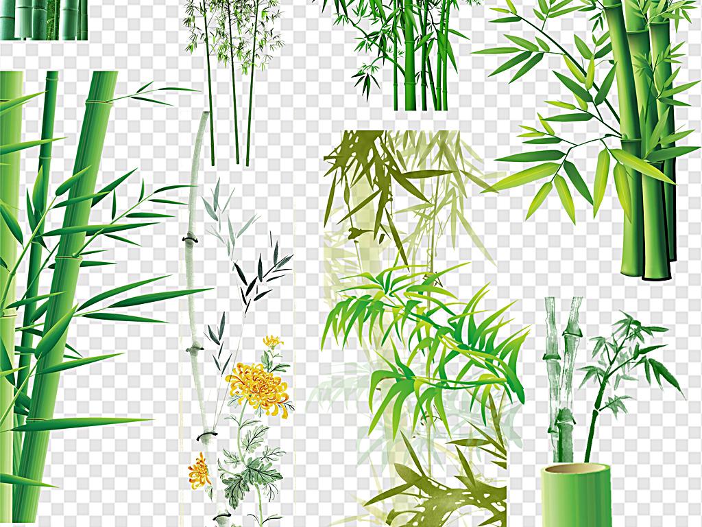 水墨竹子中国风竹子卡通竹子手绘竹子