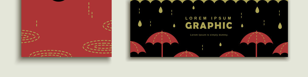 设计元素 花纹边框 卡通手绘边框 > 手绘卡通童趣可爱雨伞雨滴banner