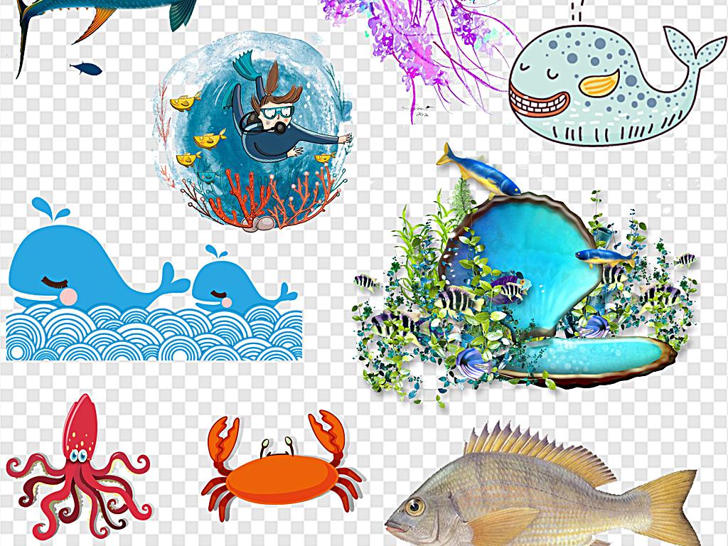 卡通海洋卡通海底海洋卡通卡通世界海洋动物图片海洋小动物海洋动物的