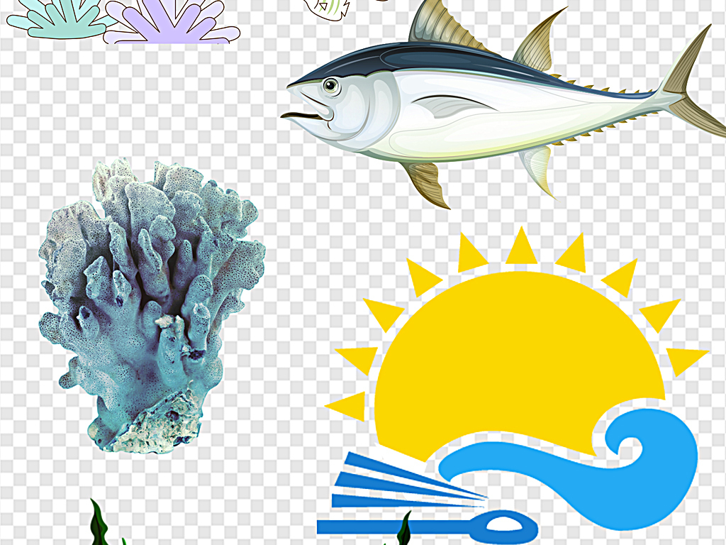 海洋动物卡通海洋海洋世界海底世界