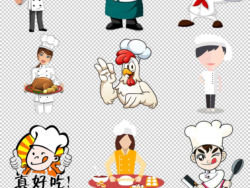 公告餐厅手绘卡通卡通厨师卡通手绘厨师厨师卡通厨师帽卡通背景图片