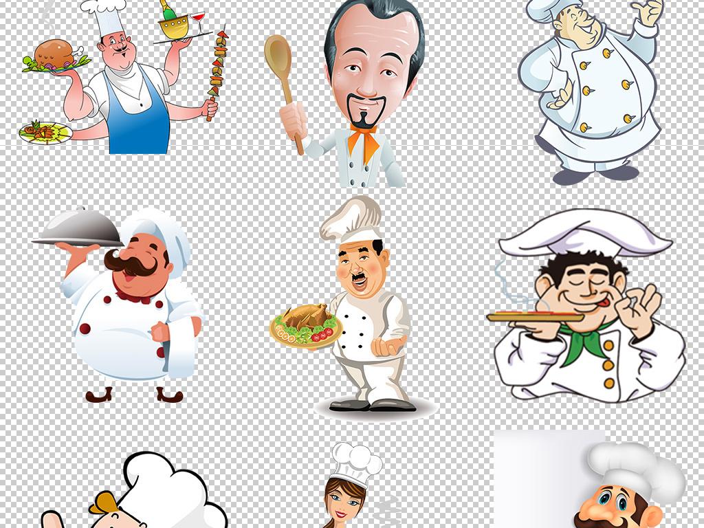 人物形象 动漫人物 > 美食餐饮卡通厨师标志logo图标  版权图片 设计