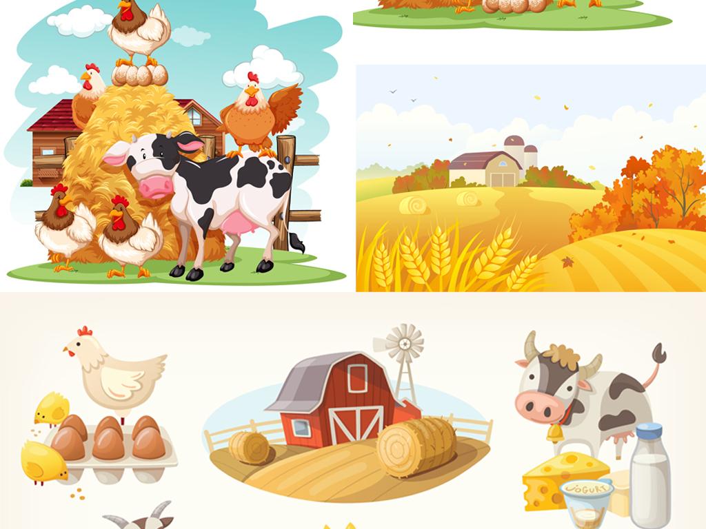 ai生态农场风景插画(图片编号:16440650)