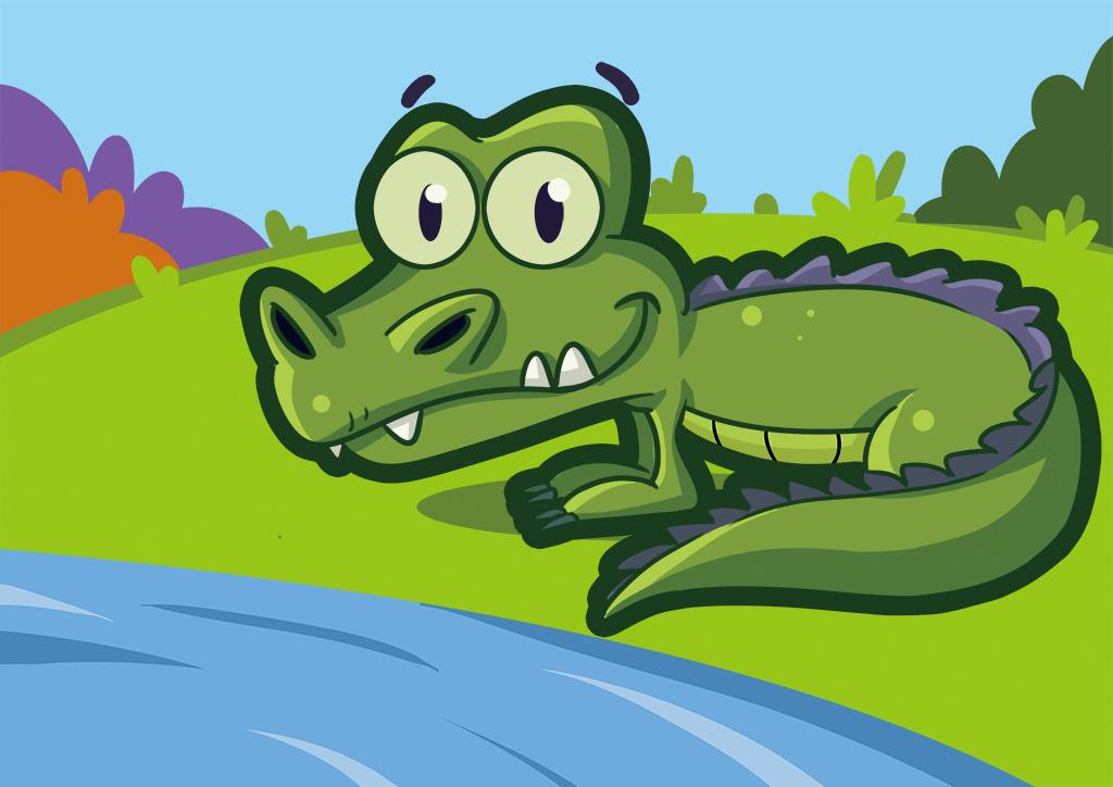 可爱卡通鳄鱼
