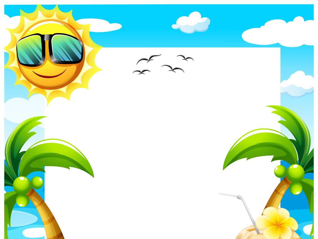 欢乐夏日海滨派对休闲时光旅游矢量