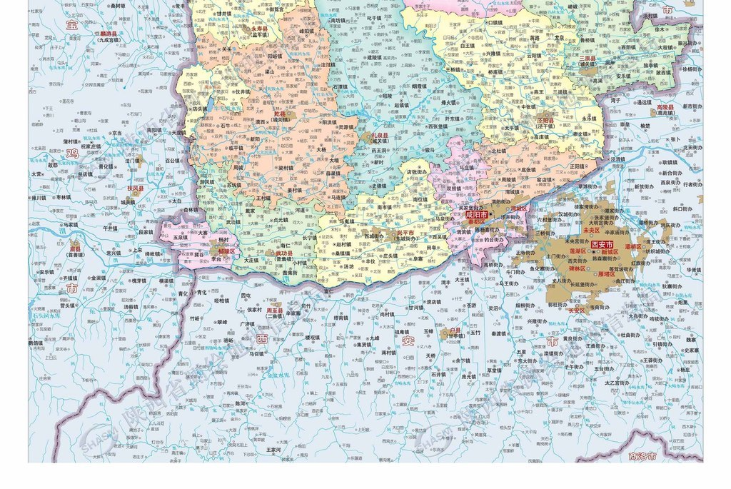 咸阳市地图高清大图
