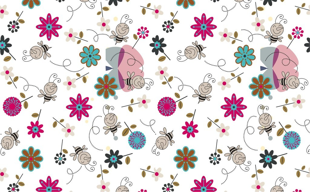 植物花卉背景图案卡通图案背景