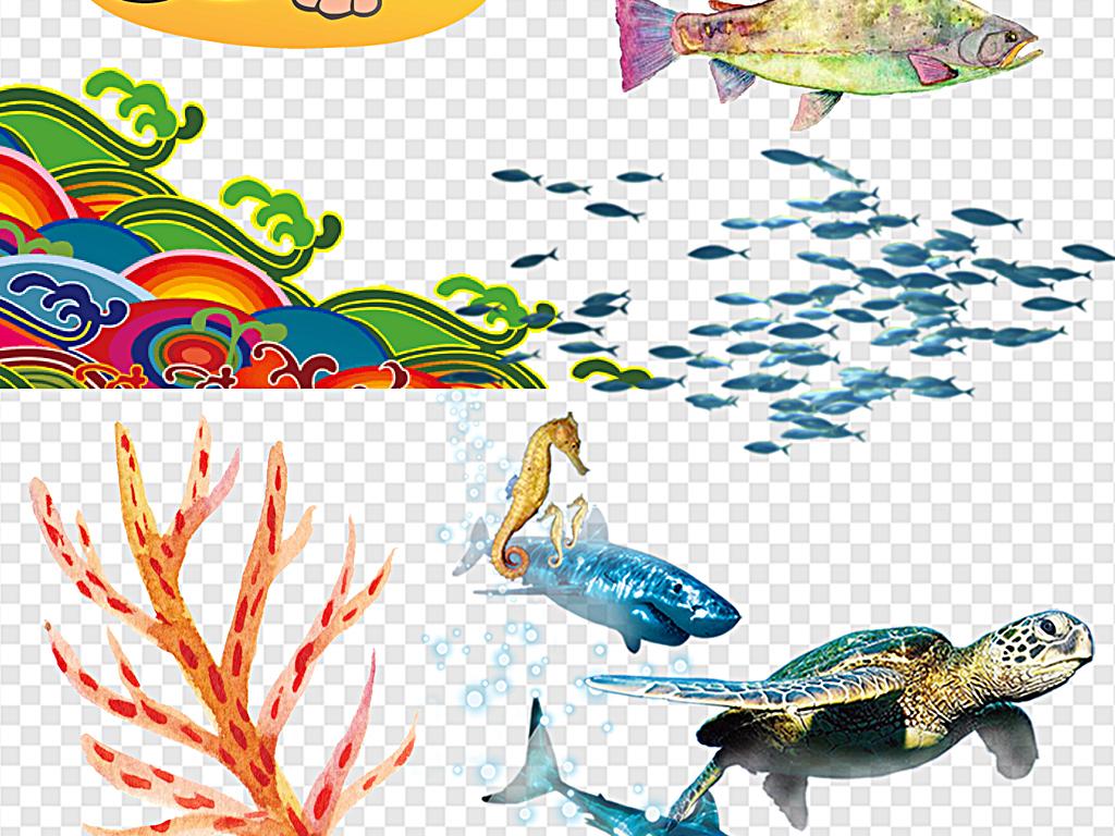 海星蓝色海洋背景卡通海星背景海洋海洋动物图片海洋小动物海洋动物的