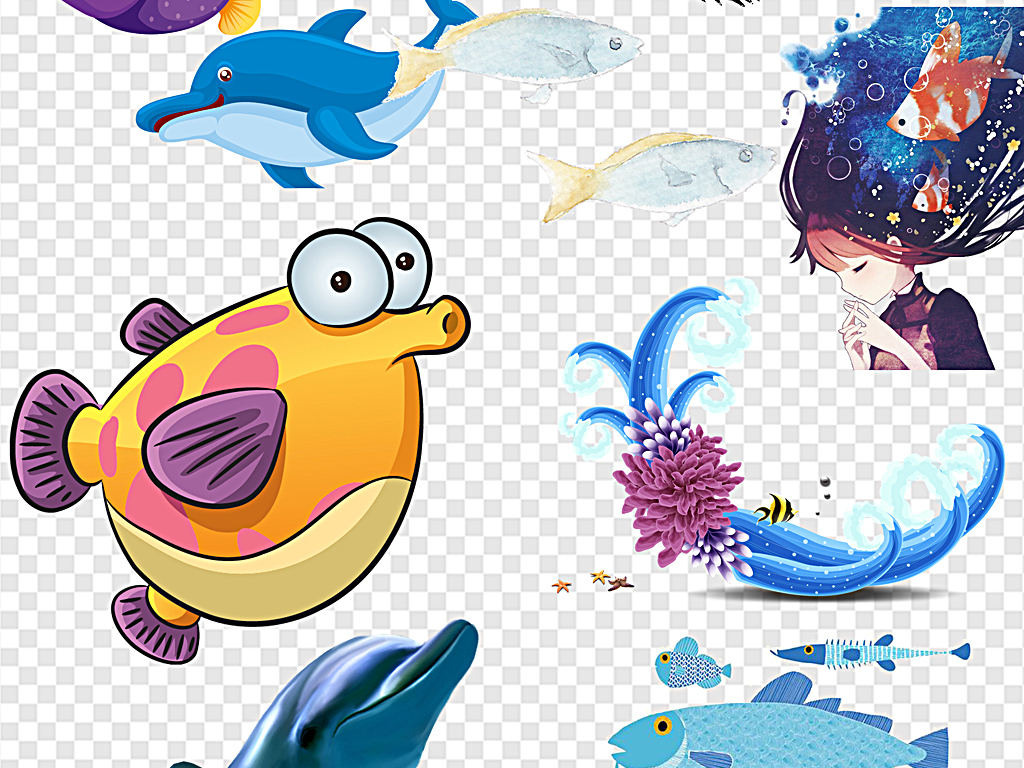 动物卡通海洋鱼海洋小鱼海洋里的鱼鱼海洋海洋鱼卡通