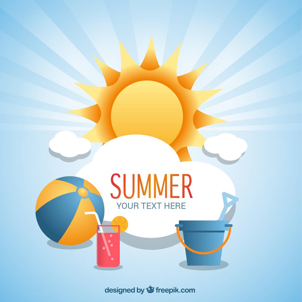 欢乐夏日海滨派对休闲时光旅游矢量模板下载(图片编号