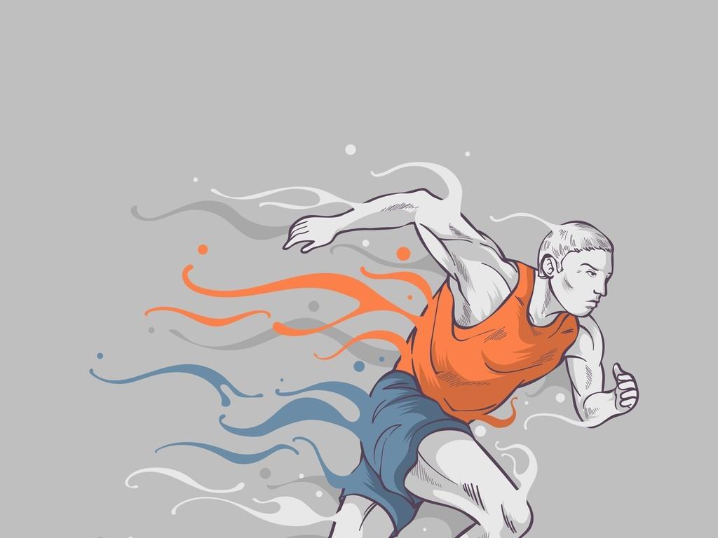 奔跑的运动员海报背景素材