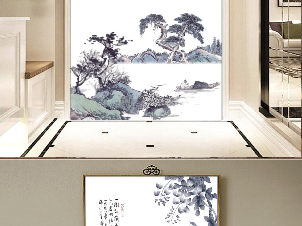 水墨画                                  家装效果图中国风