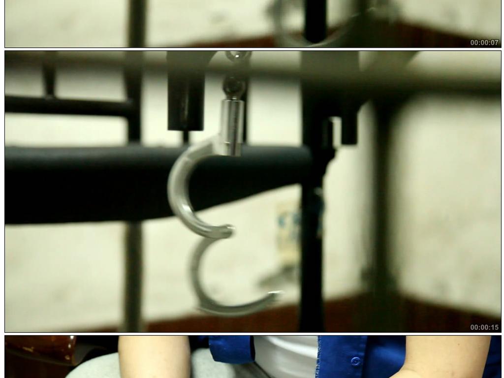 实拍看守所提审犯人视频素材图片
