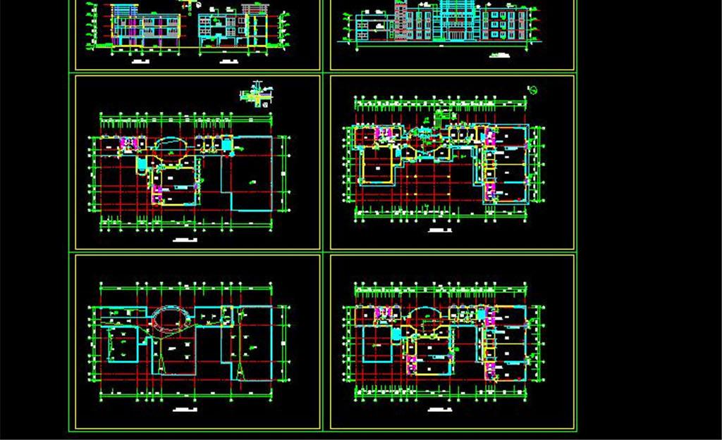 cad图库 工装施工cad图纸 工装施工cad图纸 > 14套幼儿园建筑施工图