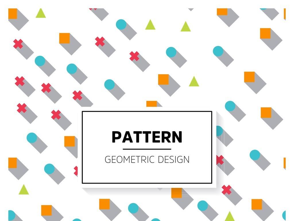 抽象几何背景图案北欧风格图片