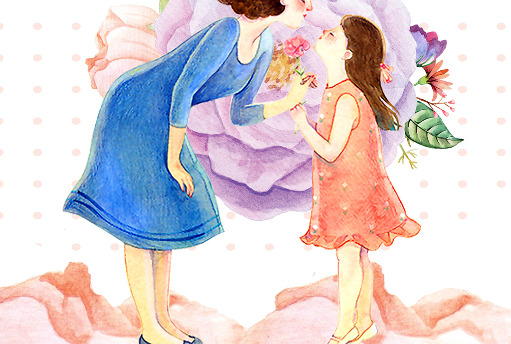 简约感恩母亲节活动促销海报