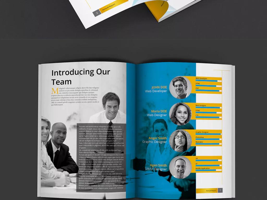 简约风格通用宣传画册设计ai模板图片
