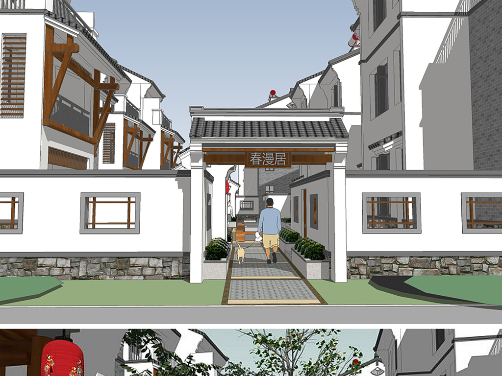 skp)                                  新中式房地产图片