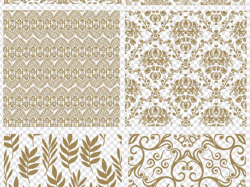 金色欧式纹理底纹花纹花边素材图片
