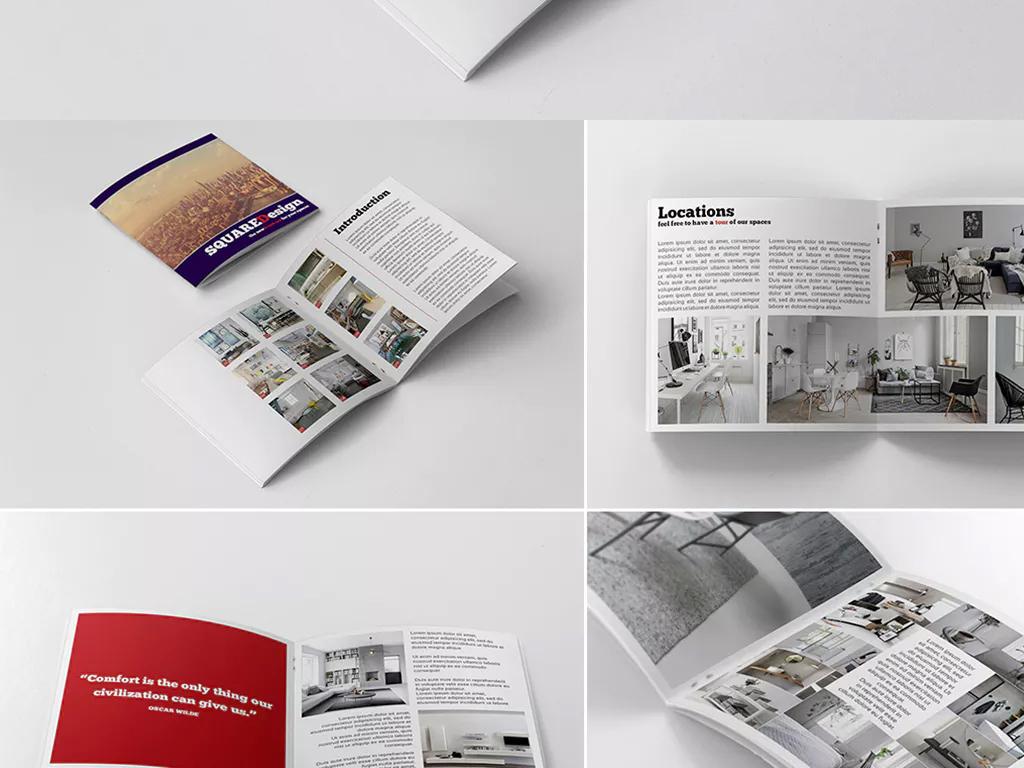 简约风格通用家具企业宣传画册设计ai模板图片