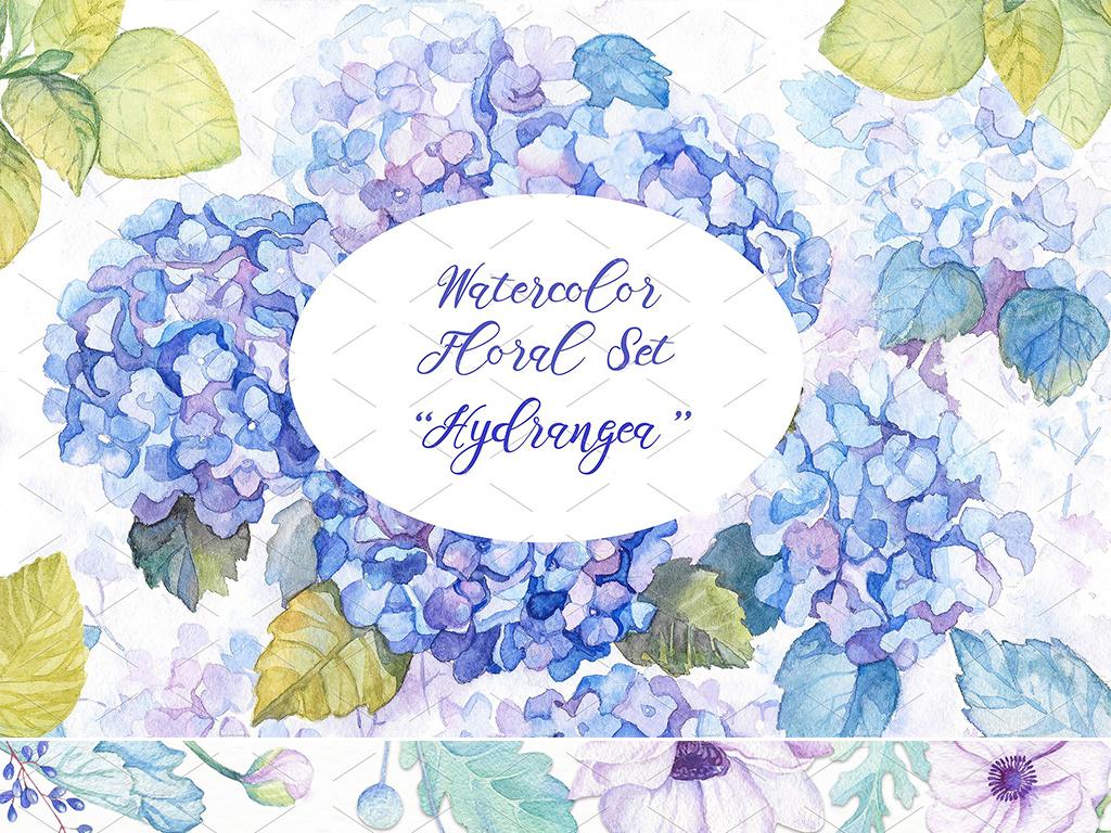 高端高清免扣水彩手绘花卉植物图案背景合集