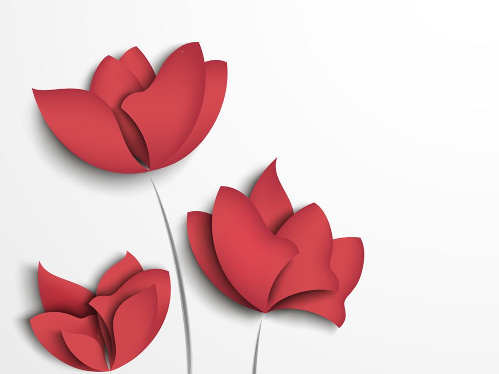 简约小清新花朵手绘