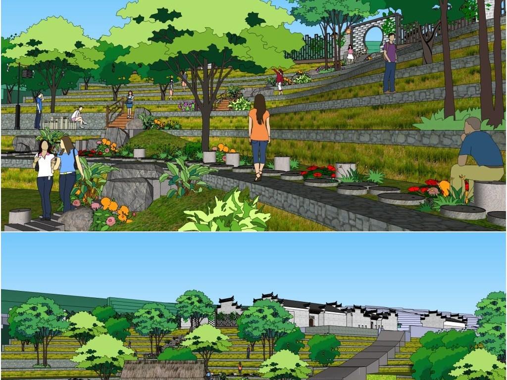 手绘表现 环境景观设计 吴畏设计作品