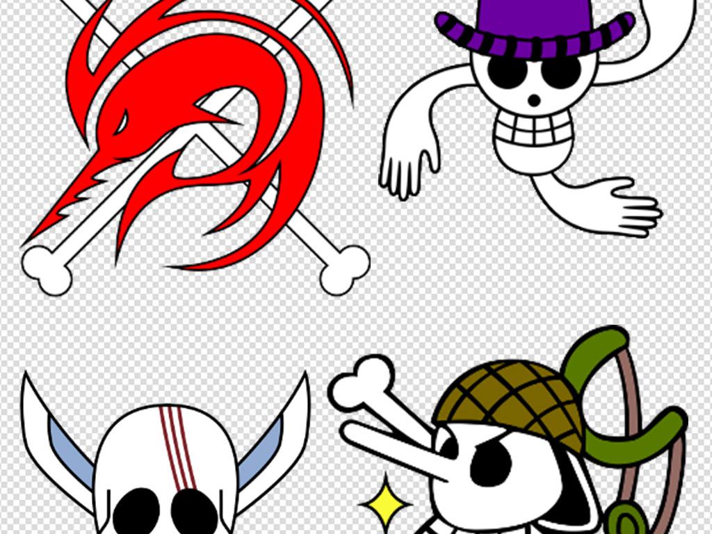 图标白色万圣节节日素材海贼王骷髅png卡通卡通骷髅儿童房壁纸儿童房