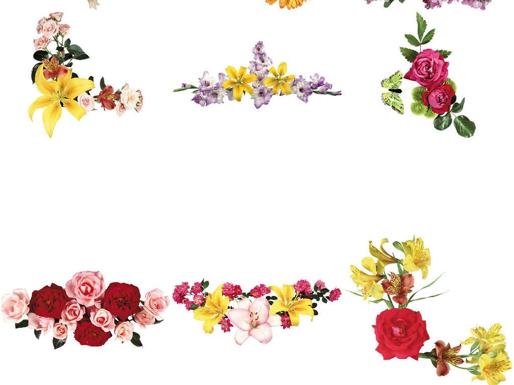 3D鲜花ps装饰背景透明素材1图片下载png素材 效果素材