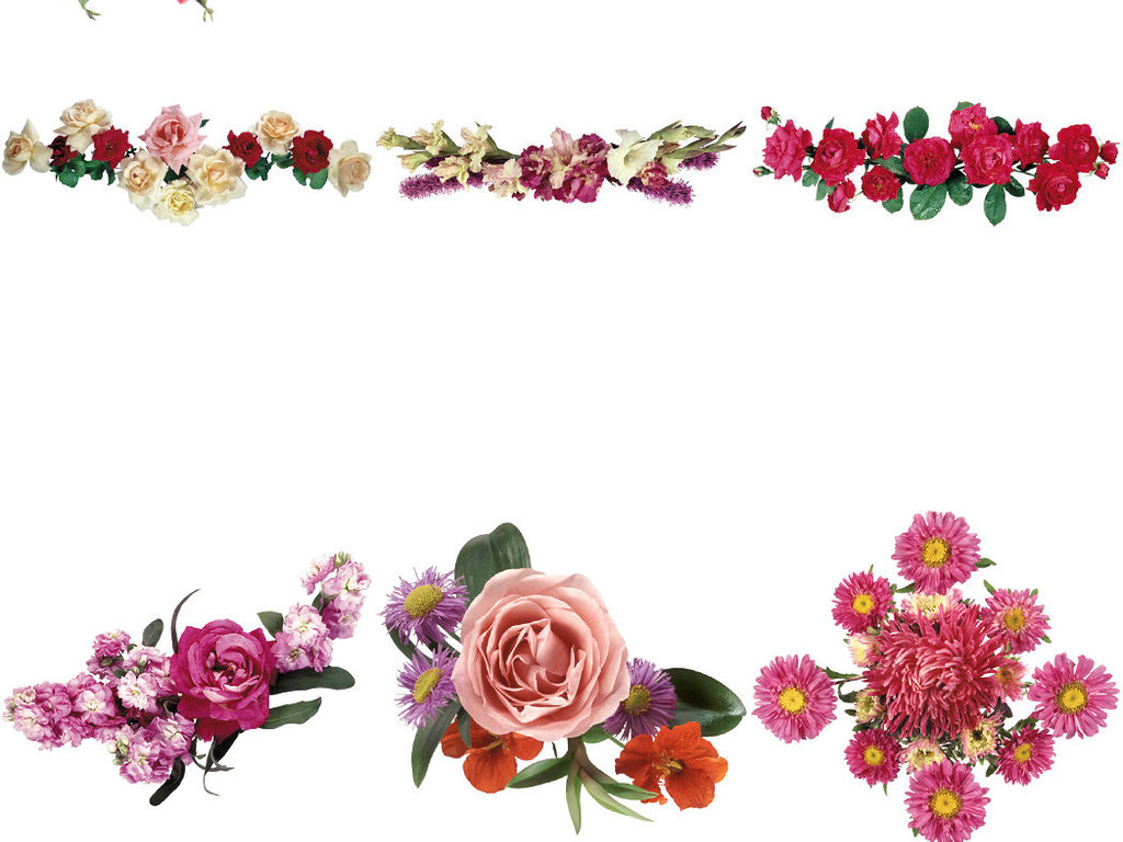 3d鲜花装饰免抠透明ps素材2