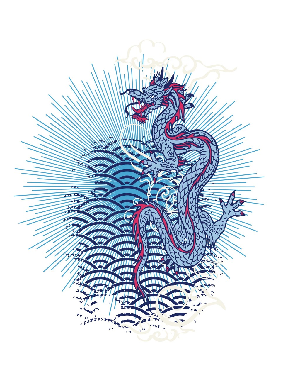 中国传统图案龙插画装饰画图片设计素材 高清其他模板下载 1.66MB 图片