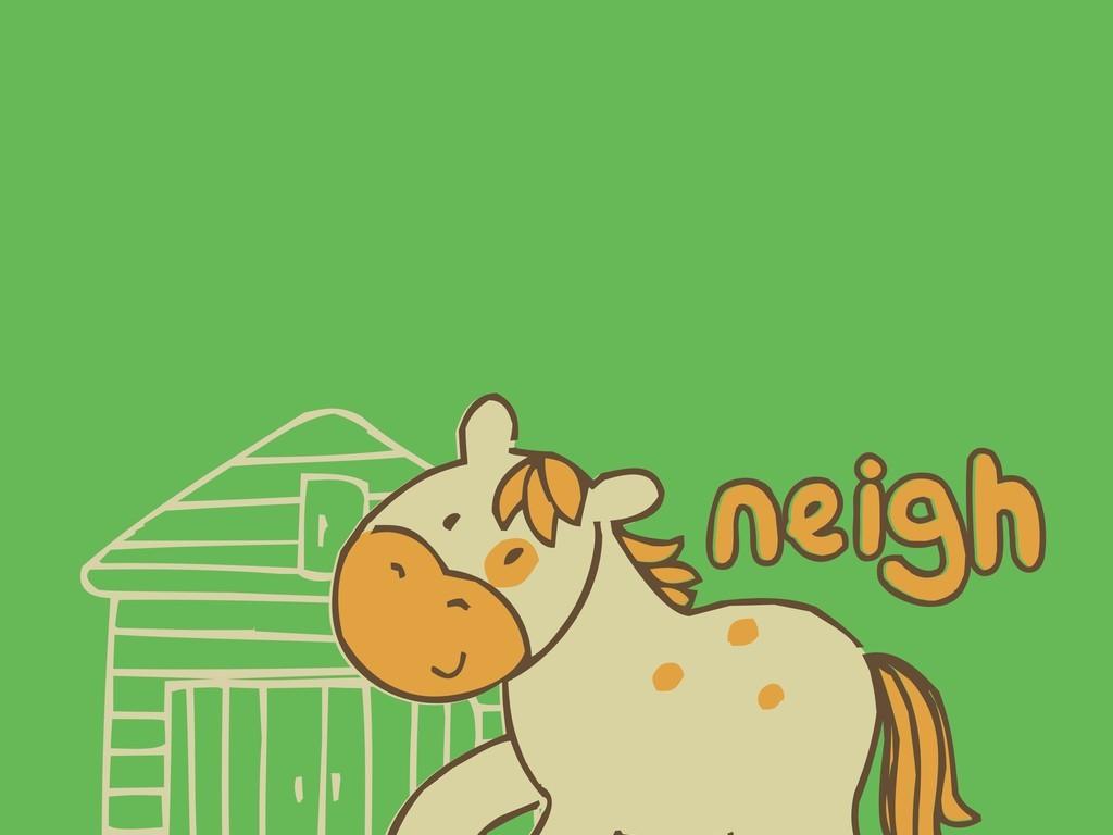 卡通图案卡通动物牛图文组合
