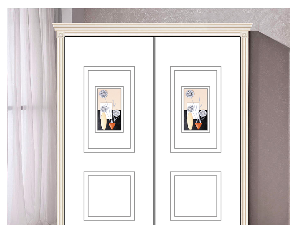 UV打印雕刻干花装饰画衣柜移门图片背景图片
