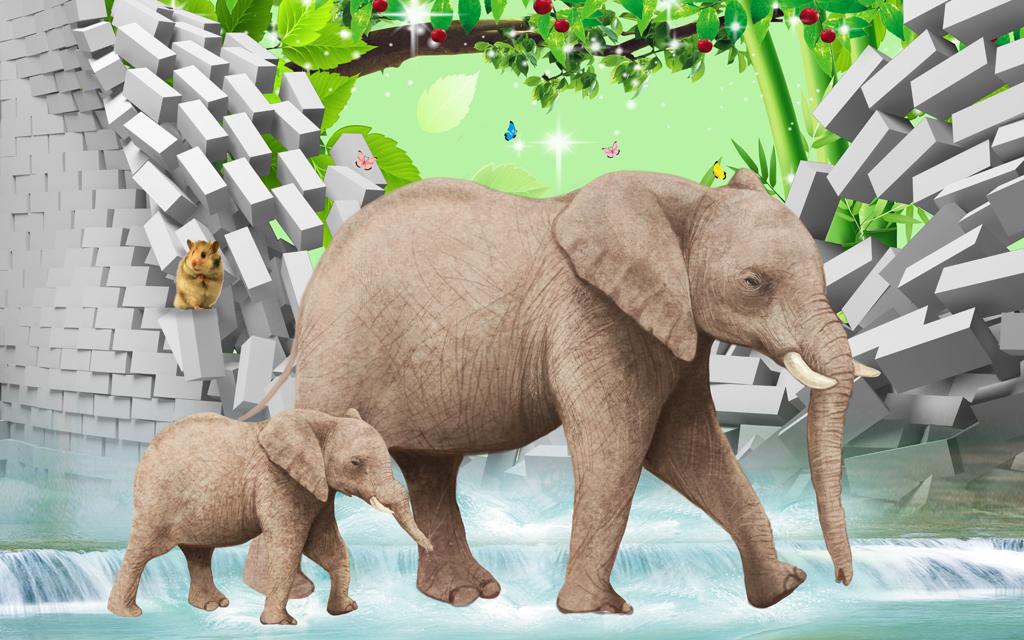 壁纸 大象 动物 1024_640