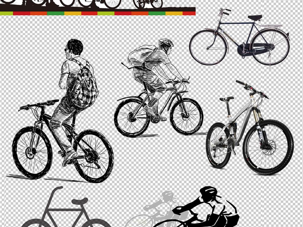 卡通自行车                                  手绘自行车