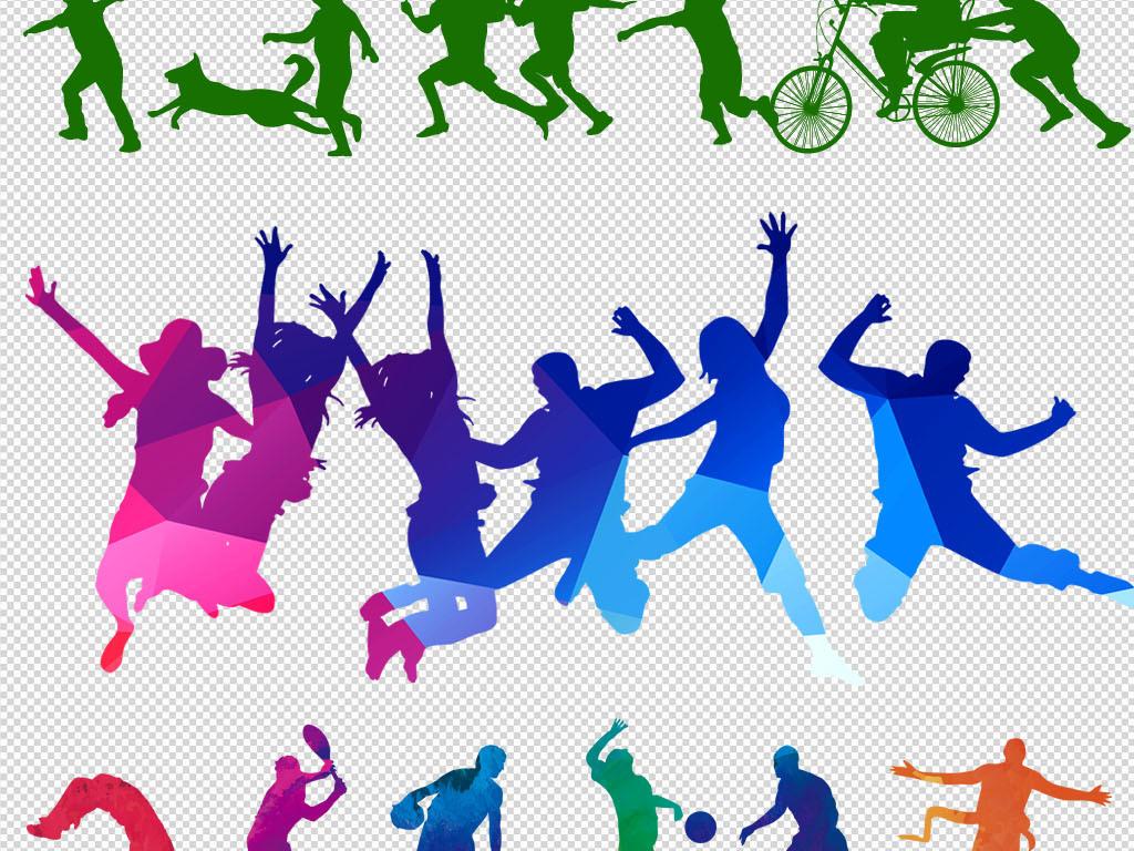 狂欢致青春校园户外跑步矢量素材跳动奥运会图片