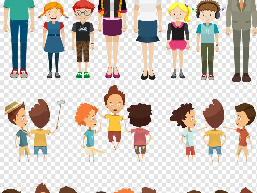 ai png卡通学生老师人物形象设计素材