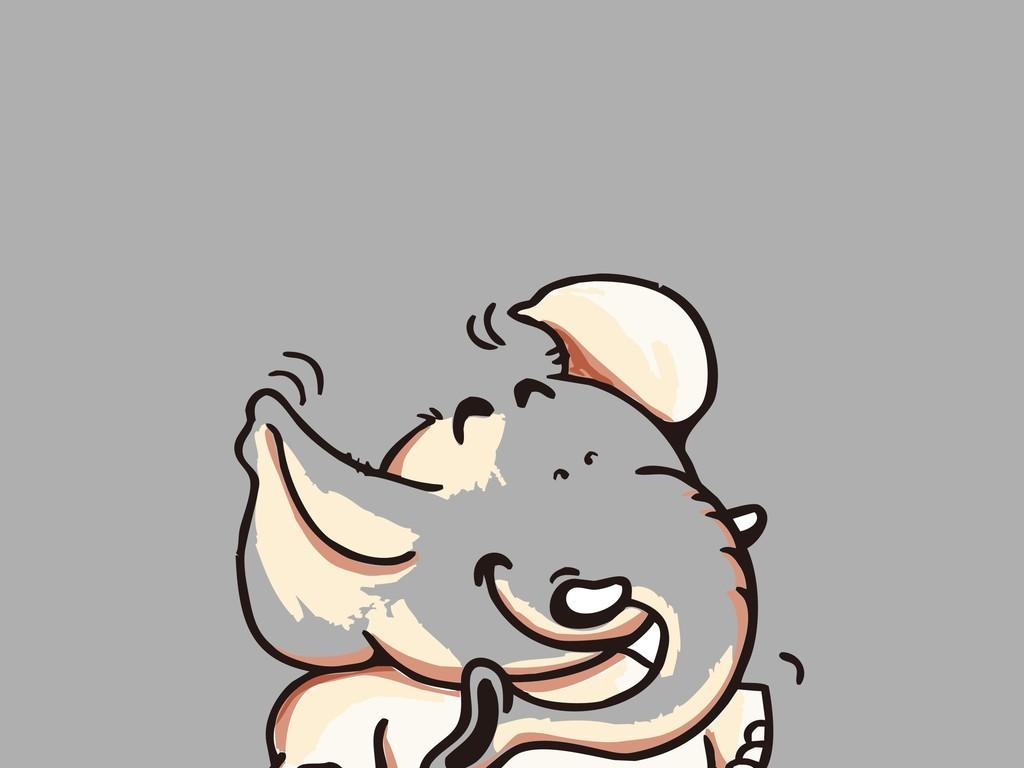 手绘卡通动物大象(图片编号:16457190)