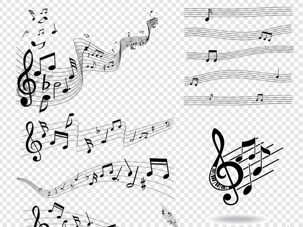 音符符号                                  卡通音符手绘音符
