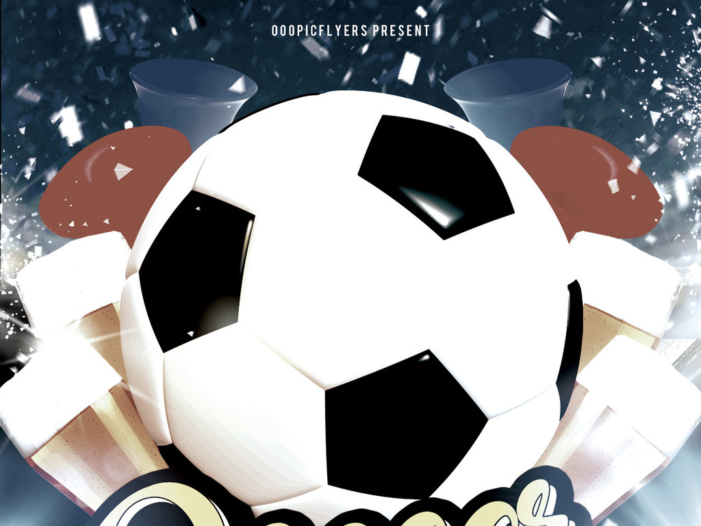 时尚动感足球场足球赛球迷俱乐部宣传海报
