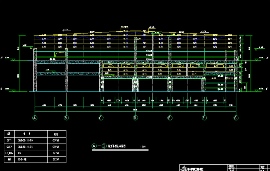 钢结构厂房cad施工图