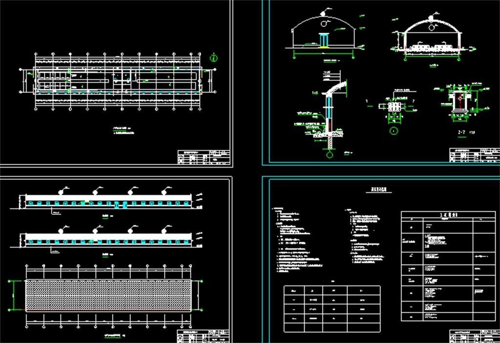 猪舍平面图养殖场cad设计图养殖场建筑施工图养殖场给水系统图养殖场