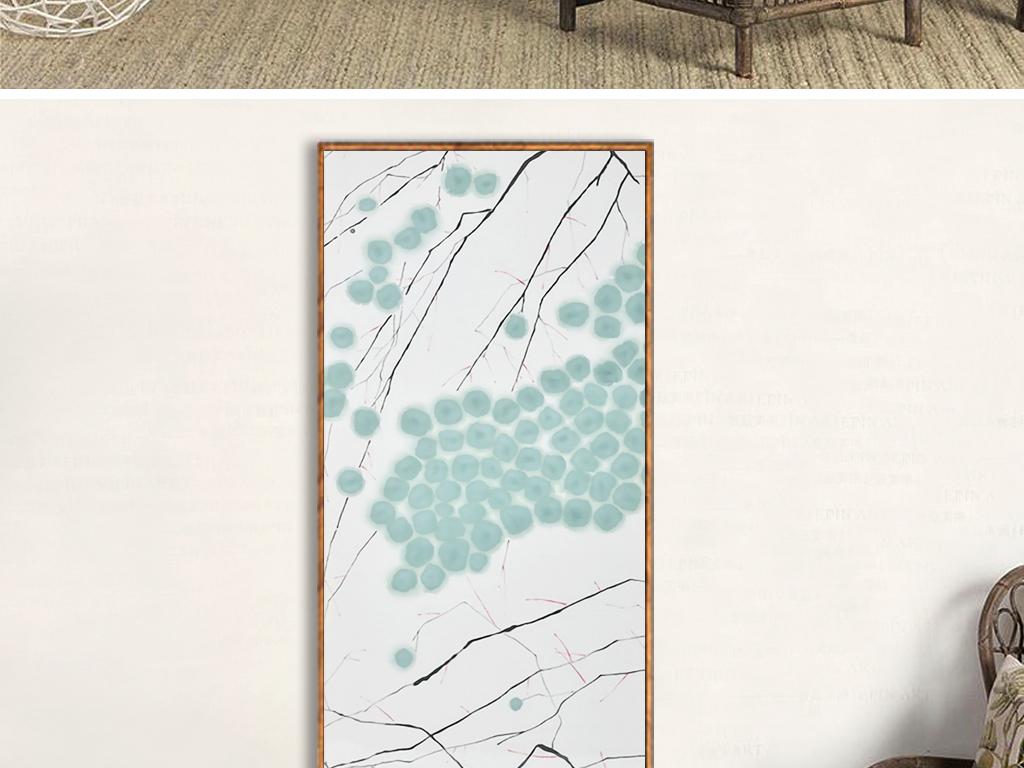 抽象新中式水墨禅意二联装饰画山水图片