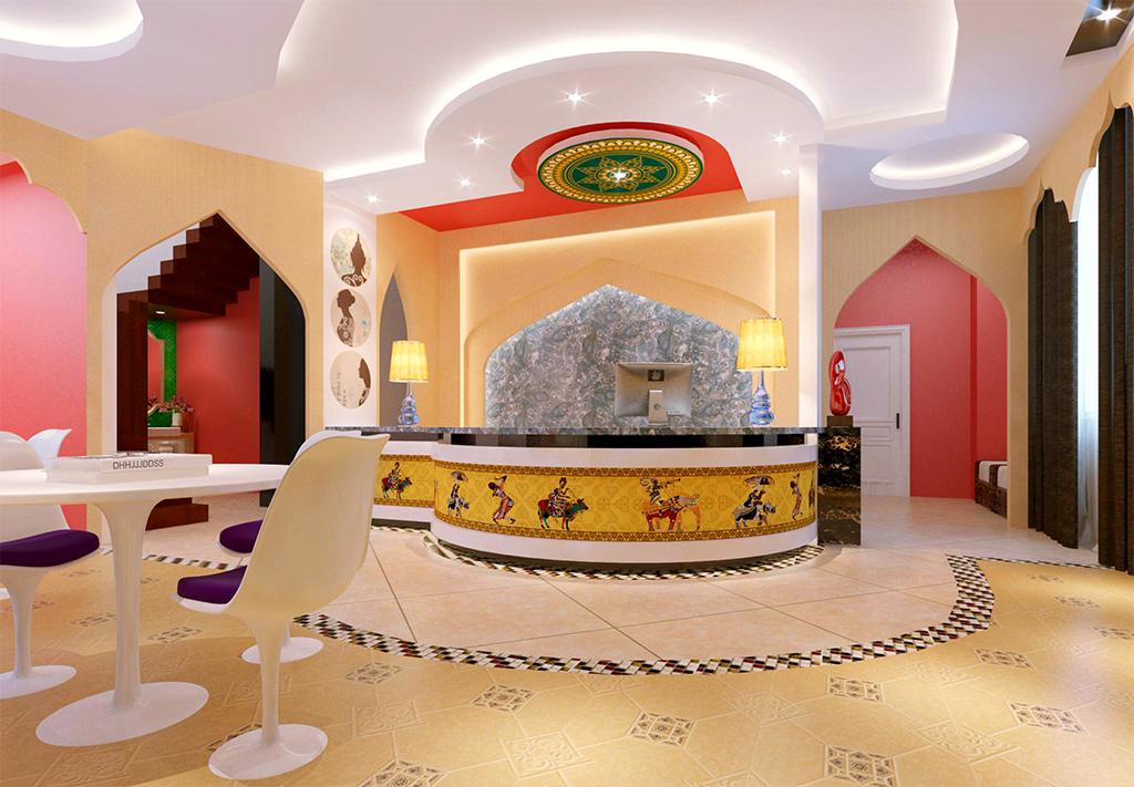 作品模板源文件可以编辑替换,设计作品简介: 瑜伽馆瑜伽教室简约印度