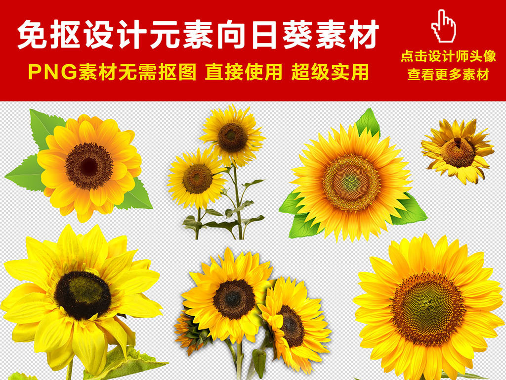 手绘向日葵向日葵背景卡通向日葵卡通手绘太阳